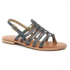 Les Tropéziennes Hariette Marine Or : chaussures dans la même tendance femme (sandales bleu doré) et disponibles à la vente en ligne
