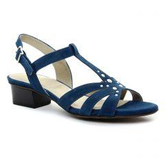 nu-pieds-trotteurs bleu: même style de chaussures en ligne pour femmes que les Tamaris