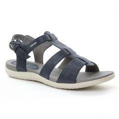 Chaussures femme été 2018 - sandales Geox bleu noir
