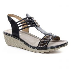 sandales-compensees bleu marine: même style de chaussures en ligne pour femmes que les Gaimo