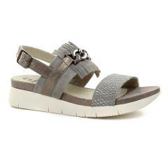 sandales-compensees gris argent: même style de chaussures en ligne pour femmes que les Scarlatine