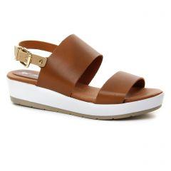 sandales-compensees marron beige: même style de chaussures en ligne pour femmes que les Café Noir