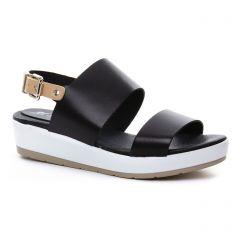 sandales-compensees noir beige: même style de chaussures en ligne pour femmes que les Les Tropéziennes