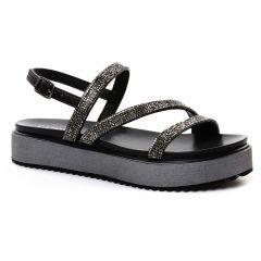 sandales-compensees noir: même style de chaussures en ligne pour femmes que les Café Noir