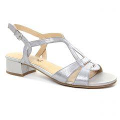 sandales gris argent: même style de chaussures en ligne pour femmes que les Les Tropéziennes