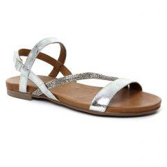 sandales gris argent: même style de chaussures en ligne pour femmes que les Tamaris