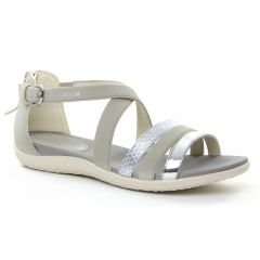 Chaussures femme été 2018 - sandales Geox gris beige