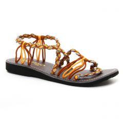 Chaussures femme été 2018 - sandales La Marine jaune blanc