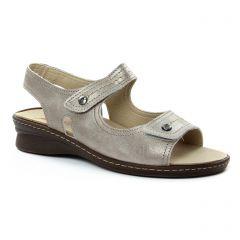 sandales marron argent: même style de chaussures en ligne pour femmes que les Tamaris