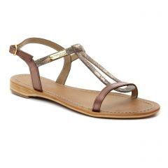 Chaussures femme été 2018 - sandales les tropéziennes marron doré