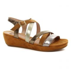 Chaussures femme été 2018 - sandales compensées Mamzelle marron doré