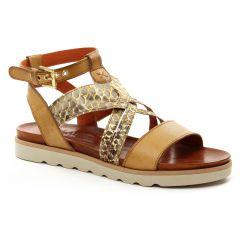 Chaussures femme été 2018 - sandales Scarlatine marron doré
