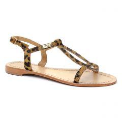 Les Tropéziennes Haleo Leopard : chaussures dans la même tendance femme (sandales marron léopard) et disponibles à la vente en ligne
