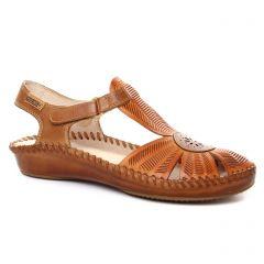 Chaussures femme été 2018 - sandales Pikolinos marron orange