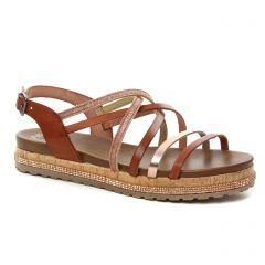 sandales marron: même style de chaussures en ligne pour femmes que les Porronet