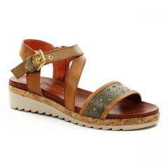 Chaussures femme été 2018 - sandales Scarlatine marron vert