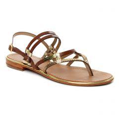 sandales marrondoré: même style de chaussures en ligne pour femmes que les Les Tropéziennes