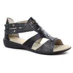 Dorking D6769 Noir : chaussures dans la même tendance femme (sandales noir argent) et disponibles à la vente en ligne