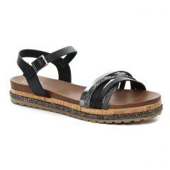 sandales noir argent: même style de chaussures en ligne pour femmes que les Porronet