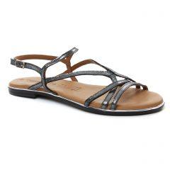 sandales noir argent: même style de chaussures en ligne pour femmes que les Tamaris