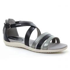 Chaussures femme été 2018 - sandales Geox noir bronze