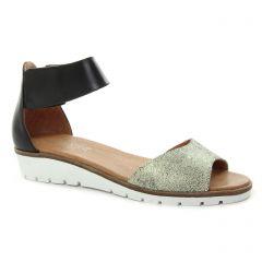 sandales noir doré: même style de chaussures en ligne pour femmes que les Scarlatine