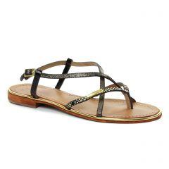 sandales noir doré: même style de chaussures en ligne pour femmes que les Les Tropéziennes