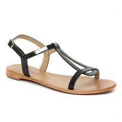 sandales noir serpent: même style de chaussures en ligne pour femmes que les Les Tropéziennes