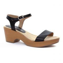 nu-pieds-talons-compenses noir: même style de chaussures en ligne pour femmes que les Maria Jaén