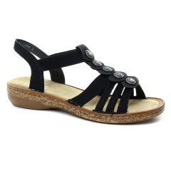 Chaussures femme été 2018 - sandales rieker noir