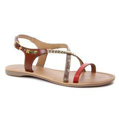 sandales rouge doré: même style de chaussures en ligne pour femmes que les Tamaris