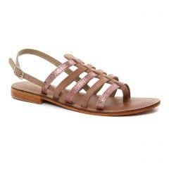 sandales rose argent: même style de chaussures en ligne pour femmes que les Les Tropéziennes