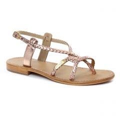 Chaussures femme été 2018 - sandales les tropéziennes rose doré
