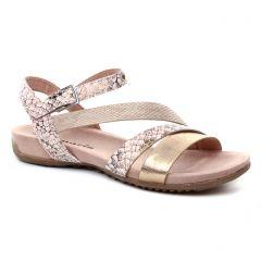 sandales rose doré: même style de chaussures en ligne pour femmes que les Tamaris