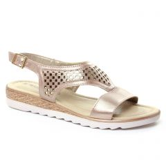 sandales rose doré: même style de chaussures en ligne pour femmes que les Les Tropéziennes