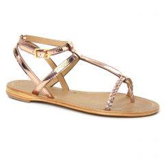 sandales or rose: même style de chaussures en ligne pour femmes que les Les Tropéziennes