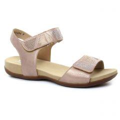 Chaussures femme été 2018 - sandales rieker rose