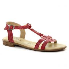 sandales rouge: même style de chaussures en ligne pour femmes que les Les Tropéziennes