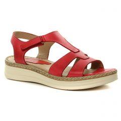 sandales rouge rose: même style de chaussures en ligne pour femmes que les Dorking