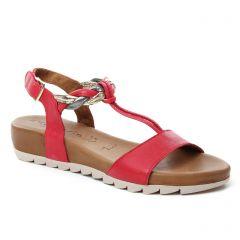 sandales rouge: même style de chaussures en ligne pour femmes que les Tamaris