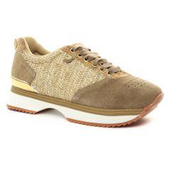 tennis beige doré: même style de chaussures en ligne pour femmes que les Gioseppo