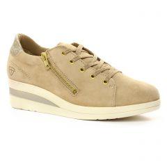 tennis beige doré: même style de chaussures en ligne pour femmes que les Tamaris
