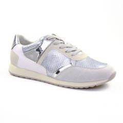 tennis blanc argent: même style de chaussures en ligne pour femmes que les Les Tropéziennes