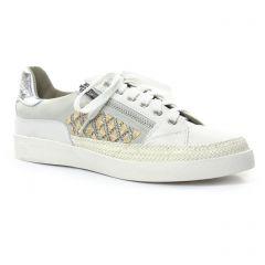 tennis blanc argent: même style de chaussures en ligne pour femmes que les Mamzelle