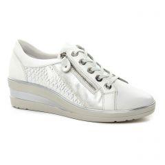 Chaussures femme été 2018 - tennis Remonte blanc argent