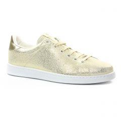 Chaussures femme été 2018 - tennis Victoria blanc doré