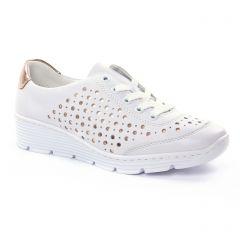 tennis blanc rose doré: même style de chaussures en ligne pour femmes que les Rieker