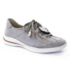 tennis gris argent: même style de chaussures en ligne pour femmes que les Rieker