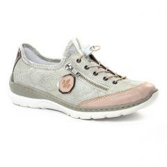 tennis gris doré rose: même style de chaussures en ligne pour femmes que les Rieker