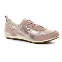 Chaussures femme été 2018 - tennis Geox rose doré